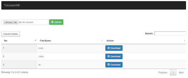 Upload and Download Files Using PHP MySQL - TutorPHPID