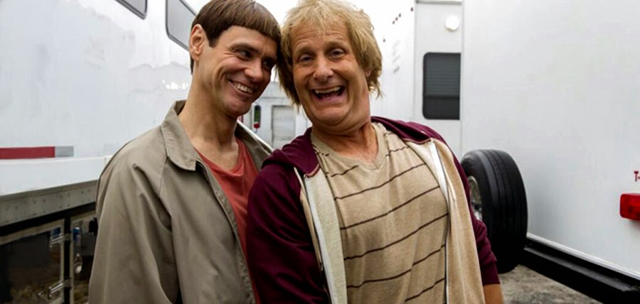 Jim Carrey şi Jeff Daniels pe platourile de filmare Dumb And Dumber To