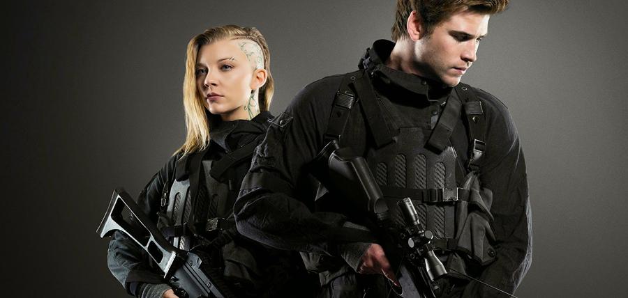 Natalie Dormer şi Liam Hemsworth în filmul Jocurile Foamei: Revolta - Partea I