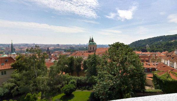 Panorámica de Praga desde el Mirador de los Jardines del Sur (Praga, República Checa)