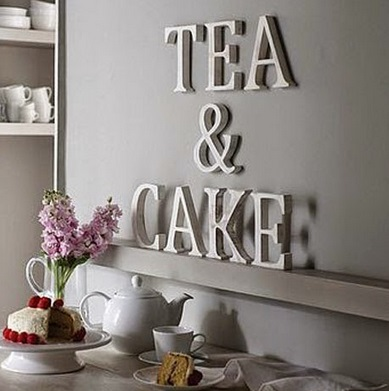 Decora con letras tu hogar decoraci n ideas para el - Letras decorativas pared ...