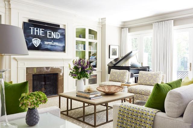 Friday favorites green in design for B q living room doors