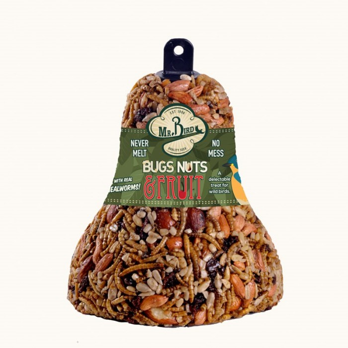 Wild Birds Unlimited Bug Nut And Fruit Seed Bell For Birds