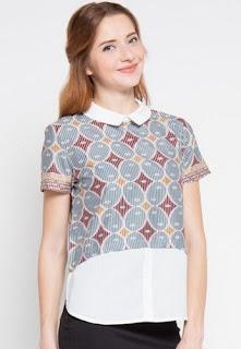 Model baju batik kombinasi untuk ke kantor