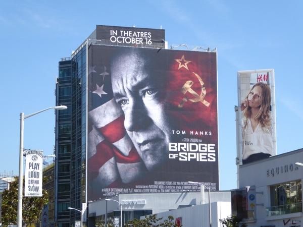 Giant Tom Hanks Bridge of Spies billboard