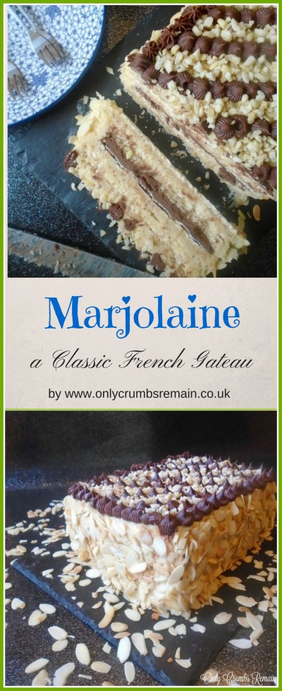 Marjolaine is a classic French dessert packed with nuts and consists of layers of daquoise, buttercream and chocolate ganache.