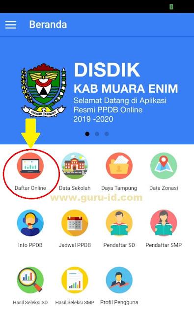 gambar aplikasi ppdb online muara enim 2019/2020