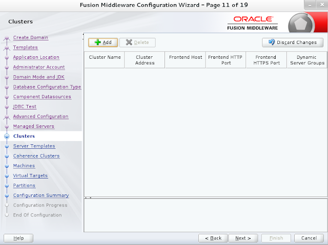 Weblogic domain creation step 12