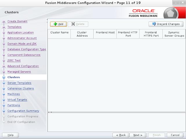 Weblogic domain creation step 12