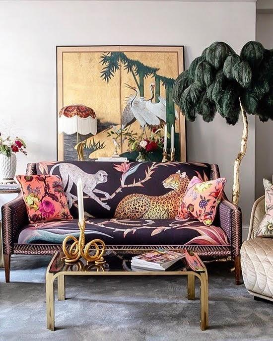 Safari Fusion blog | Monkey business | Glamourous and fun interior styling with Ardmore Design's Zambezi Sofa and Cushions