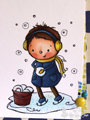 Chose To Color Up Snow Much Fun For Todays Peek He Is Stamped On