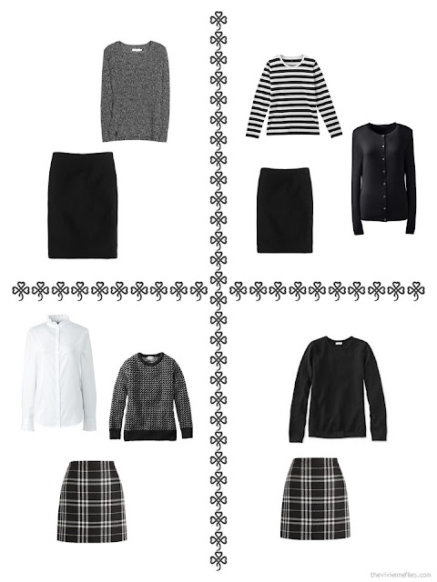 4 ways to wear a skirt from my October 2017 wardrobe