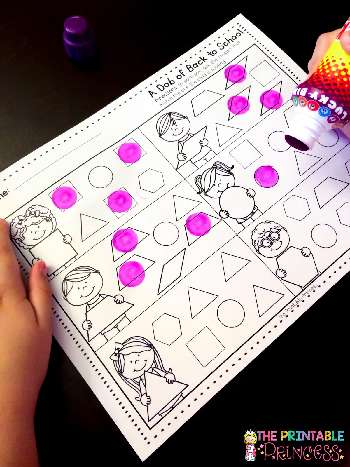 The Printable Princess Using Bingo Dabbers In The