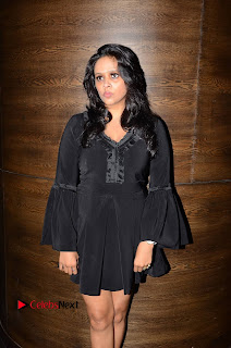 Actress Leena Pictures in Black Dress at Dr Chakravarthy Movie Audio Launch  0010.JPG