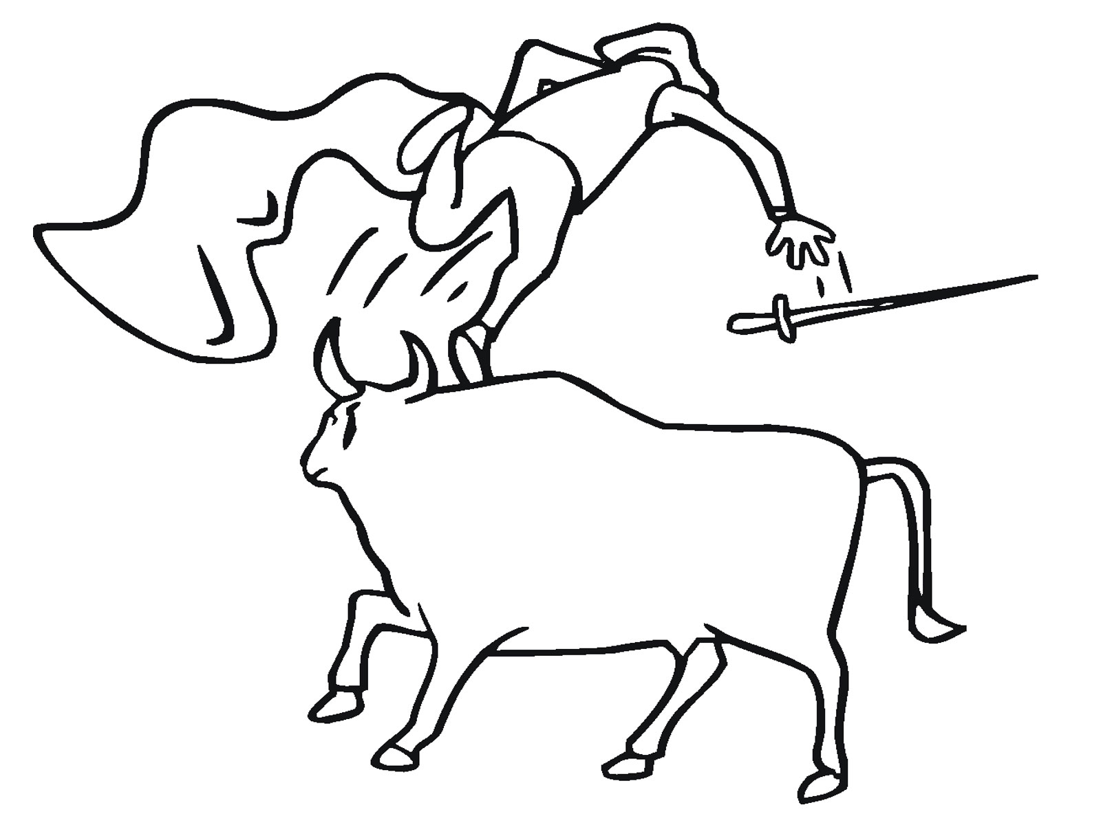 Bull Printable Coloring Pages