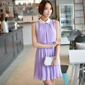 Dabuwawa sleeveless pleated chiffon dress, $83.90 at YesStyle.com
