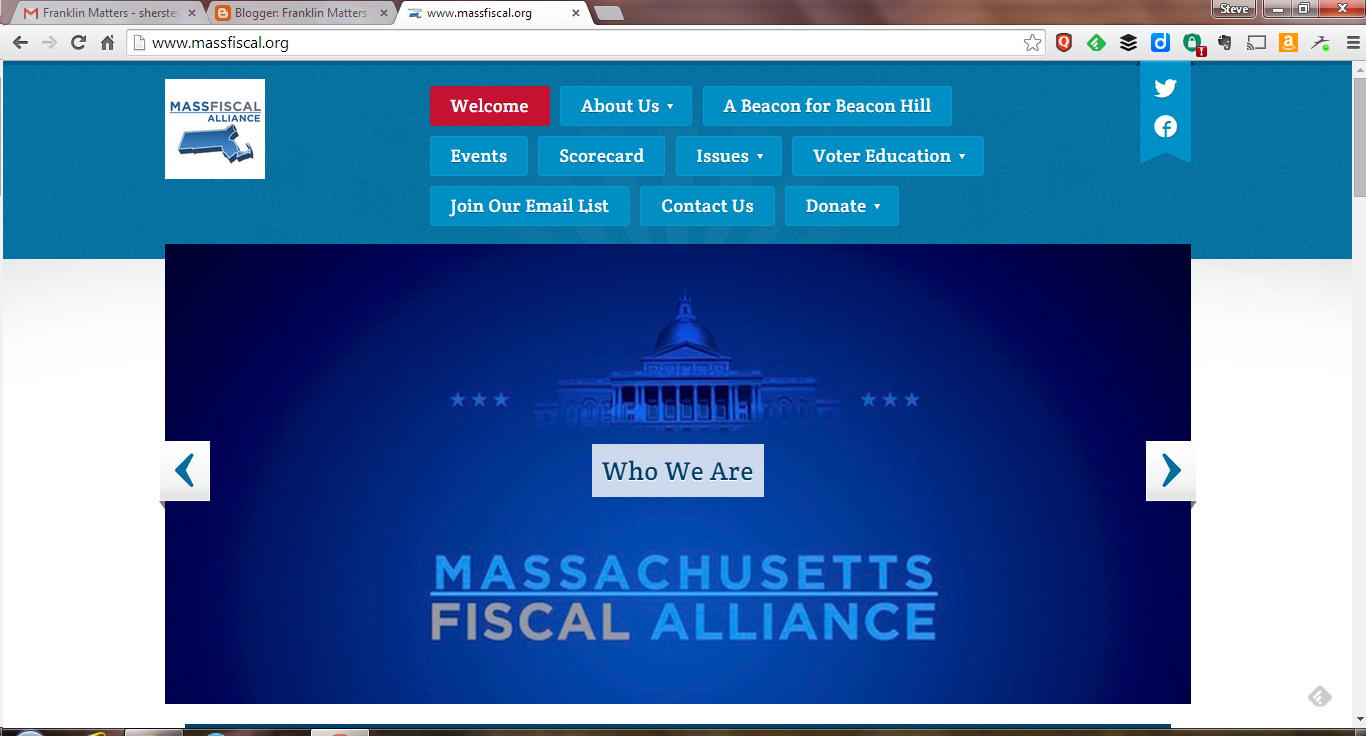screen grab of MassFiscal webpage