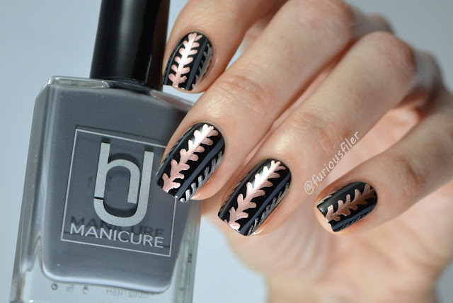 damask metallic elegant free hand pattern egdy nails