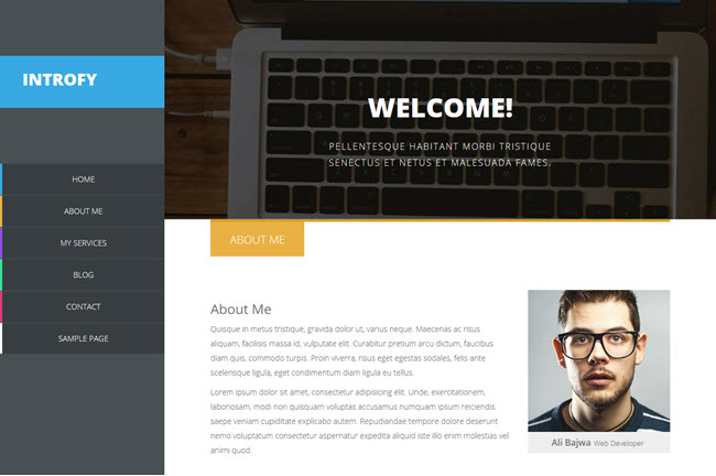 Introfy - Responsive Blogger Template
