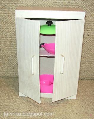 кукольная мебель из картонных коробок