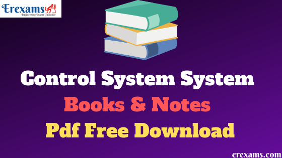 Control System Books & Notes Pdf Free Download