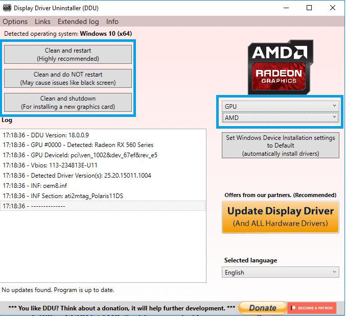 Uninstall Driver VGA AMD Dan NVIDIA