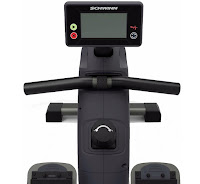 Schwinn Crewmaster Fitness Monitor with large LCD screen displays time, distance, strokes, calories, recovery & pulse