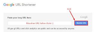Cara mempersingkat link dengan Google URL Shortener