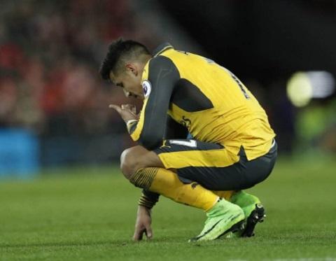 Sanchez bực tức ngay khi thi đấu