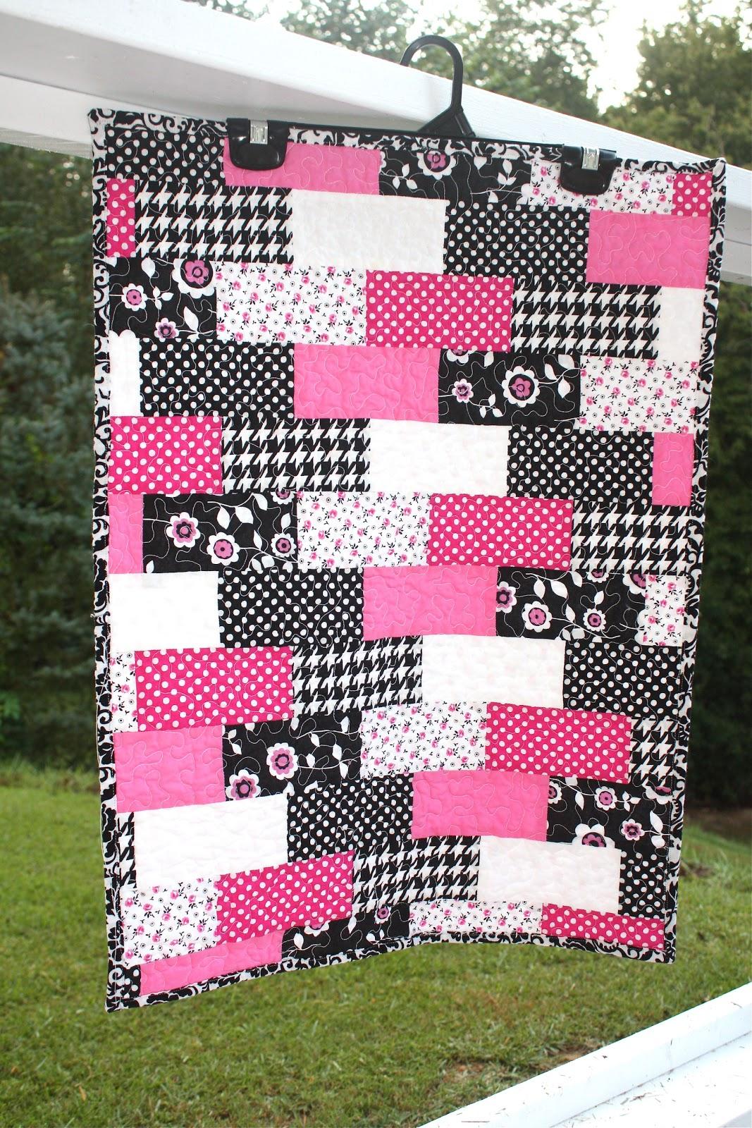 Designing Tomorrow – Baby Changing Quilt: Girlie Girl Brick | Wee ... : brick quilt - Adamdwight.com