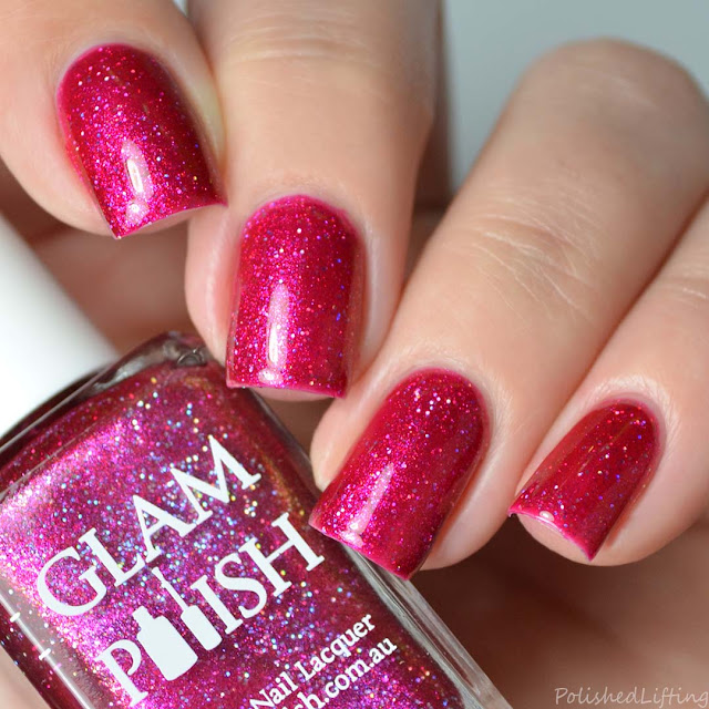 fuchsia holo nail polish