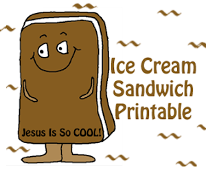Ice Cream Sandwich Sunday School Craft
