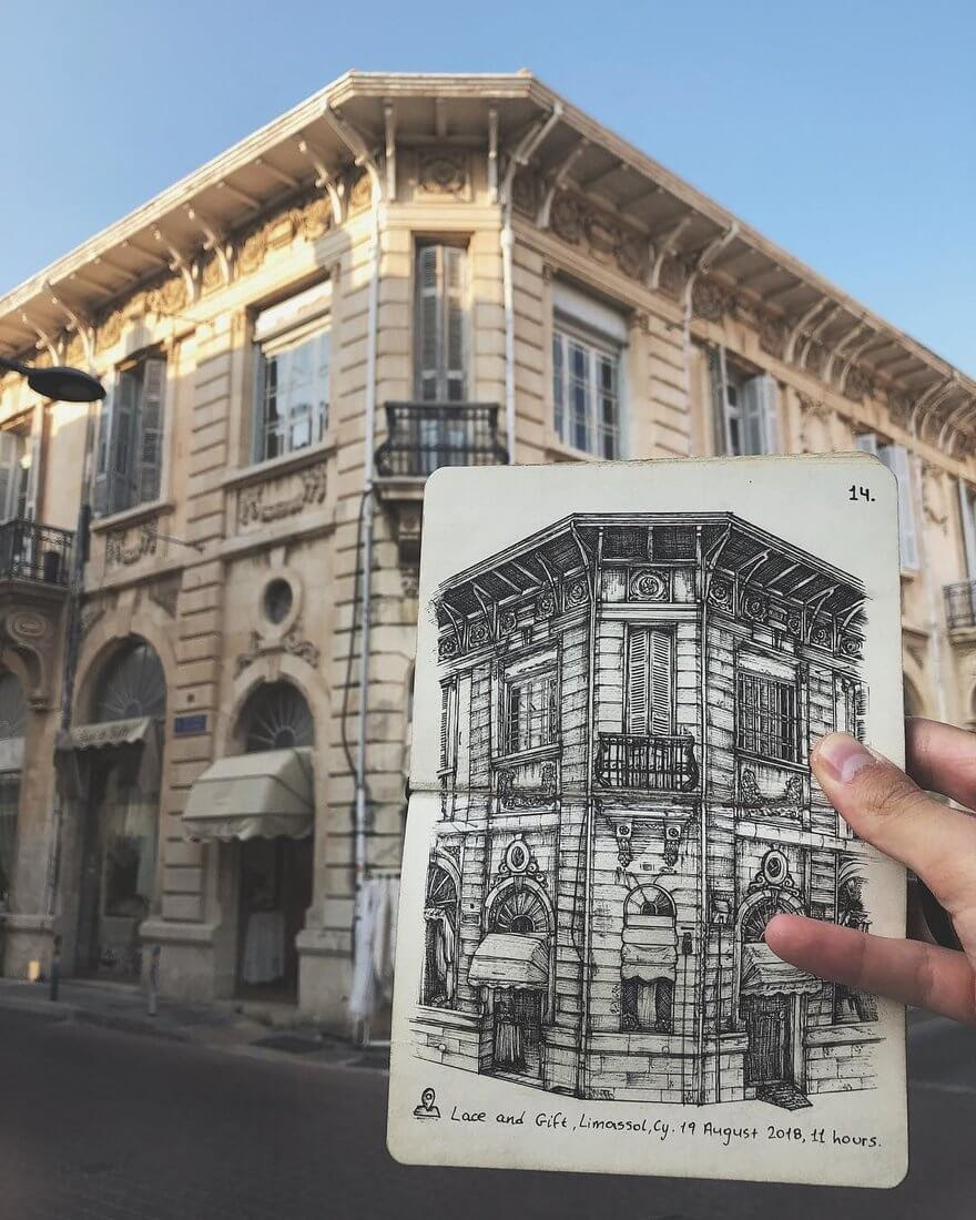09-Old-Town-Cyprus-Alex-Pantela-Ink-Urban-Architectural-Drawings-www-designstack-co