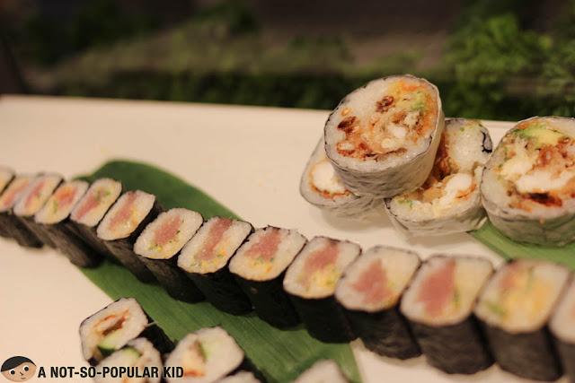 Sushi rolls in Nobu Restaurant