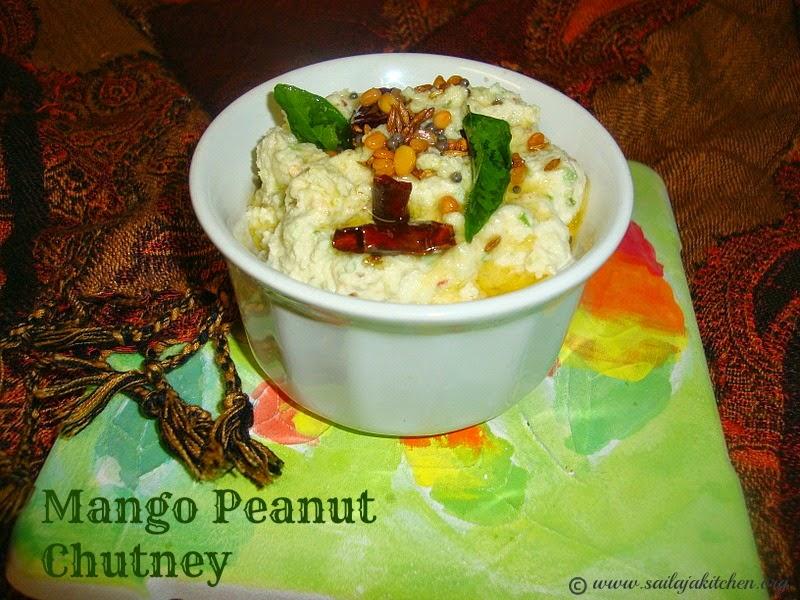 images for Mango Peanut Chutney / Peanut Mango Chutney / Palli Mamidikaya Chutney  Recipe