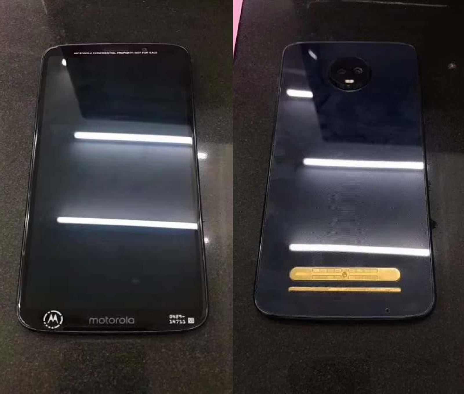 Moto Z3 Play Live Images Leaked