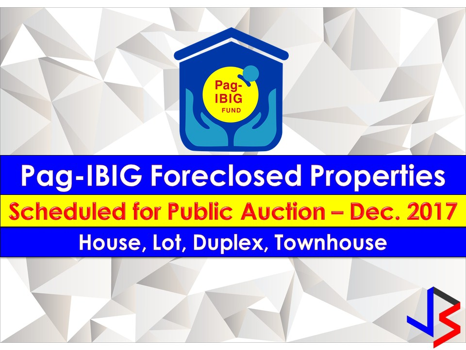 Hundreds of acquired assets of properties of Pag-IBIG Fund will be auctioned this December.  Pag-IBIG branches nationwide will be participating in the public auctions. These includes National Capital Region, Pagadian  City and Zamboanga.   If you are looking for properties to buy such as lot townhouse, duplex, Quadro-duplex, row houses, and many others, this is your opportunity to own.  Disclaimer: Thoughtskoto is not affiliated nor is we selling any property from Pag-Ibig Fund. All the information had been verified through Pag-Ibig website. We encourage you to transact only with Pag-Ibig authorized agent in their office when participating in an auction.