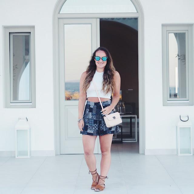 OOTD: Bandana Print Shorts