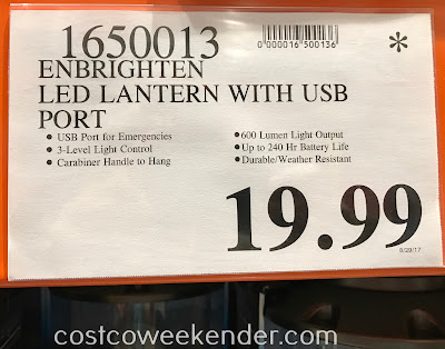 Deal for the Enbrighten LED Lantern at Costco