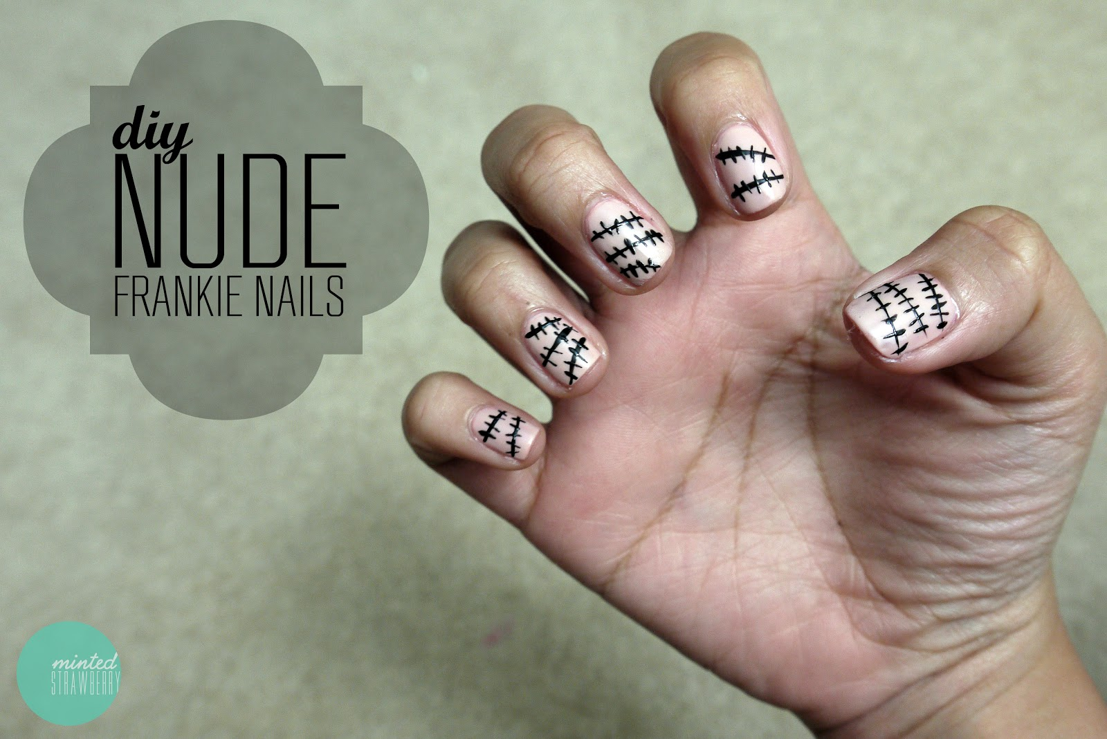 Nail Polish Nude Frankenstein Nails Minted Strawberry