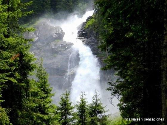 Las cascadas de Krimml, Parque Nacional Hohe Tauern, Austria