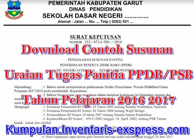 Susunan Panitia PPDB/PSB