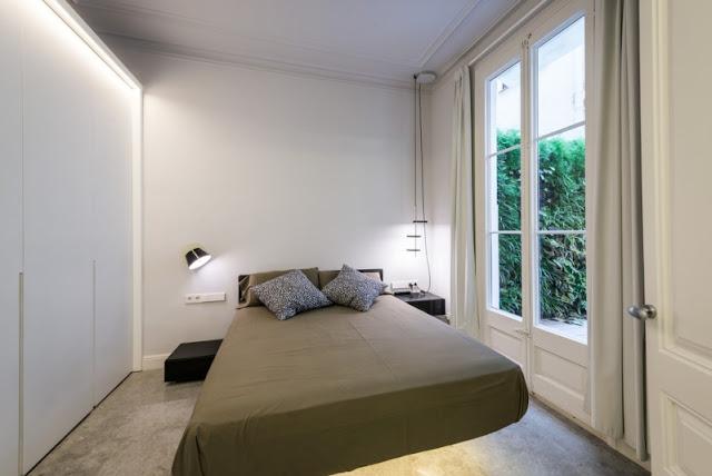 dormitorio en piso en el ensanche barcelonés chicanddeco