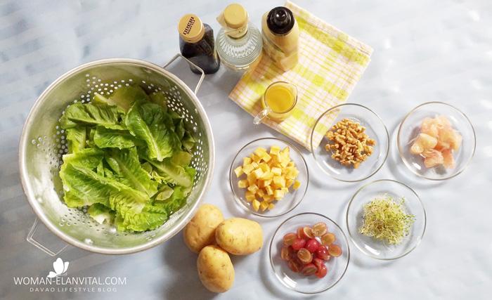 Cos-Blue Pea with US POTATO Crouton Salad in Dijon-Honey Vinaigrette Ingredients
