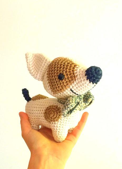 amigurumi jack russell dog crochet pattern