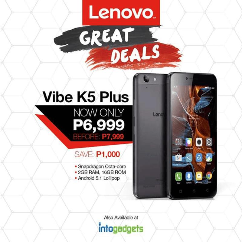 Lenovo Vibe K5 Plus 6,999 Pesos