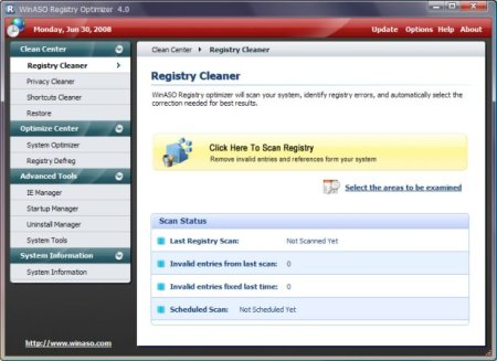 Download WinASO Registry Optimizer 5.3 Portable software