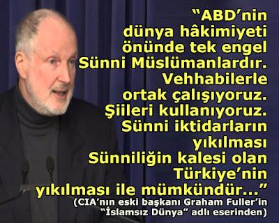 ABD, USA, dünya, sünni, şia, şii, vehhabi, türkiye, CIA, Graham Fuller, islam, ajan,