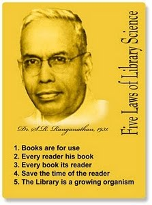 Father of Library Science in India, (S. R. Ranganathan)