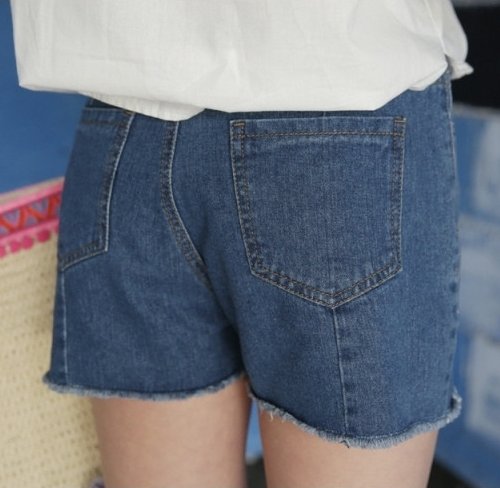 Fringed Seam Accent Shorts